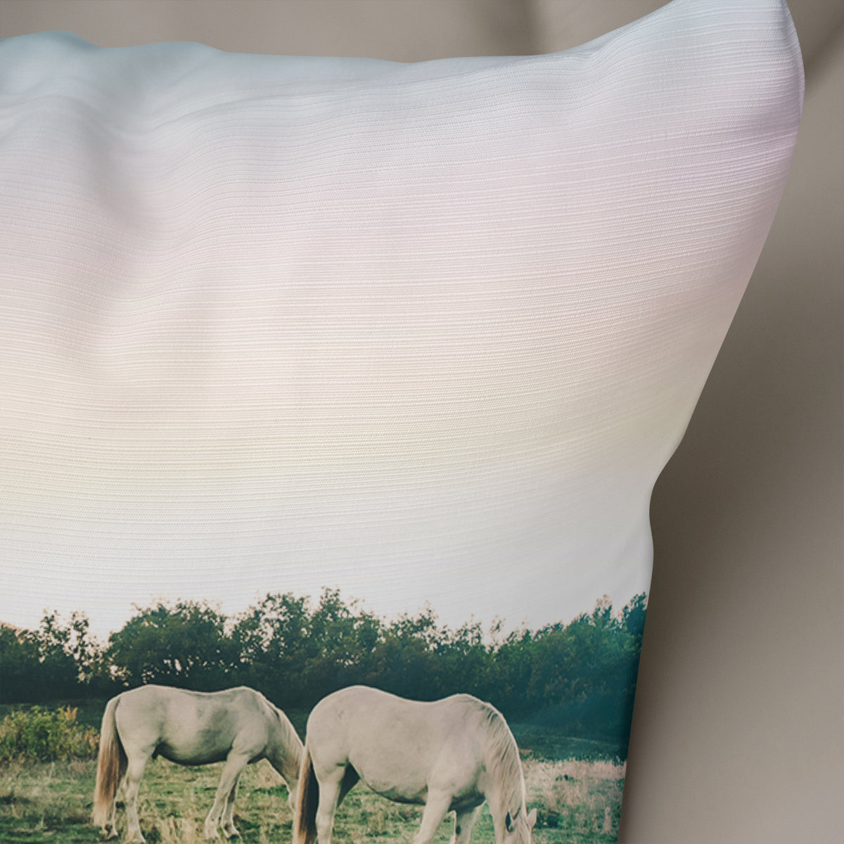 Horses in Snowy Colorado Throw Pillow - 5 Sizes
