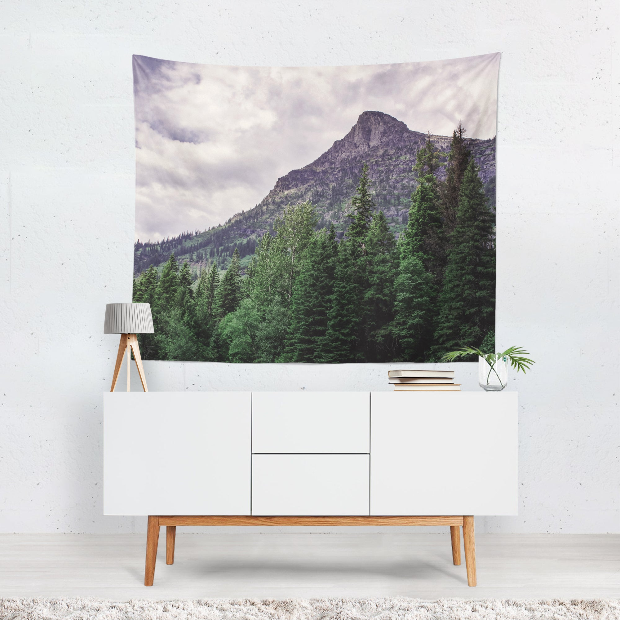Epic Mountain Peak, Glacier Montana Wall Hanging