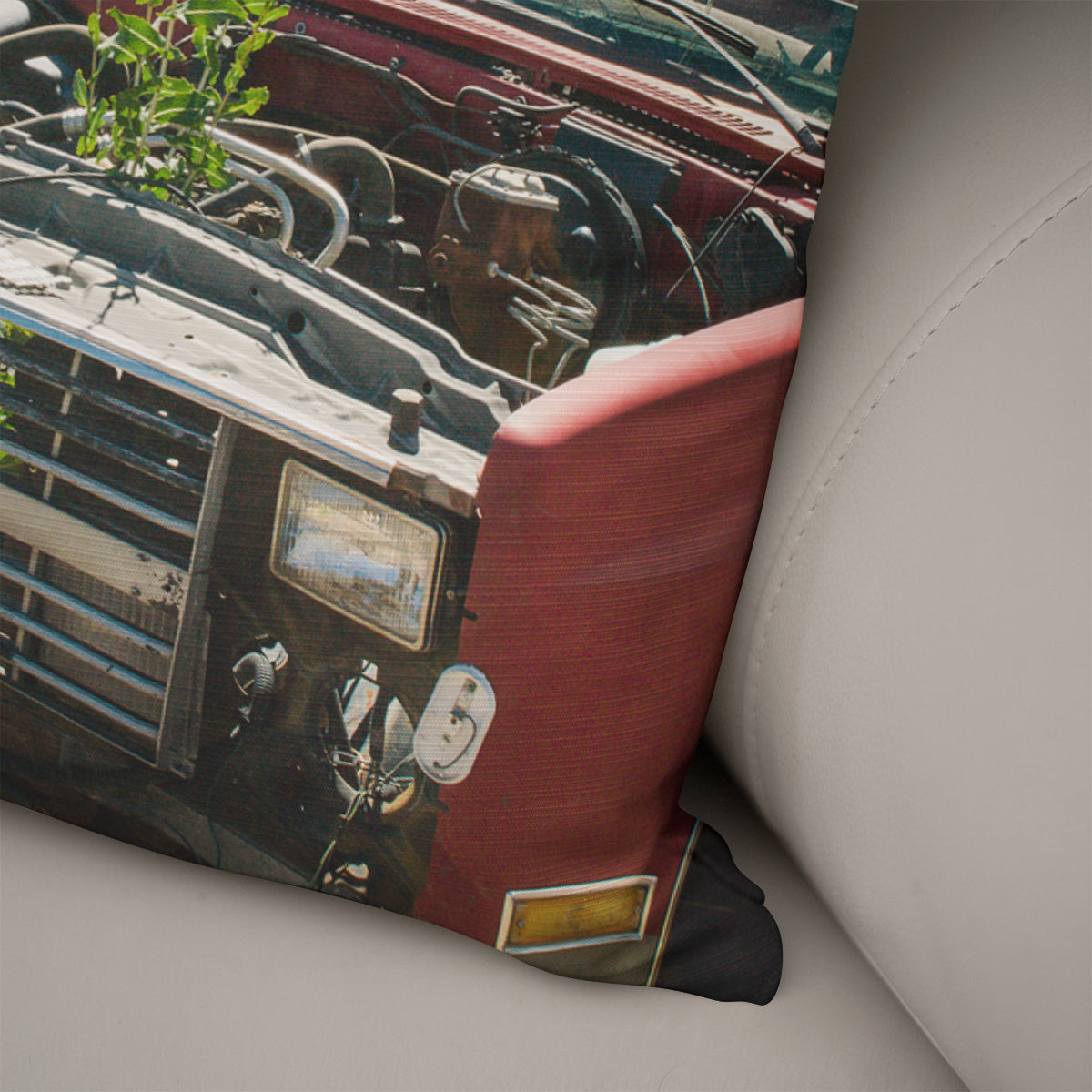 Ghost Town Truck Throw Pillow Cover- 5 Sizes