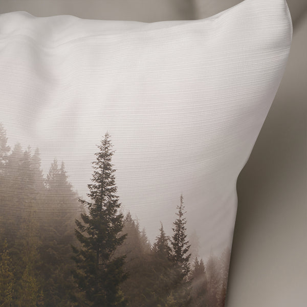 Suspended - Foggy Forest Throw Pillow Cover- 5 Sizes
