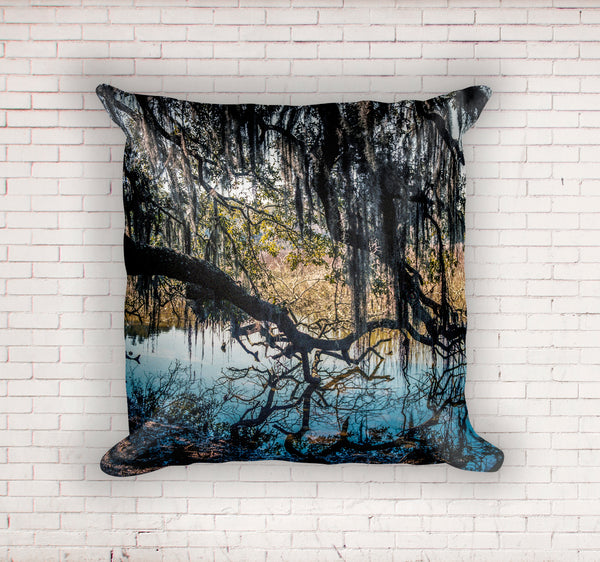 Georgia Coast Swamp Throw Pillow Cover- 5 Sizes