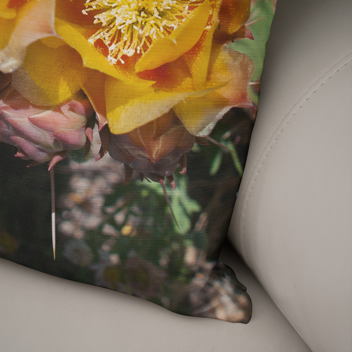 Desert Flower Decorative Throw Pillow - 5 Sizes