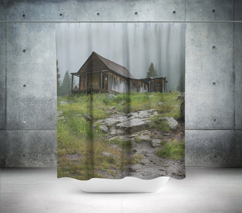 Abandoned Cabin Shower Curtain Lost In Nature
