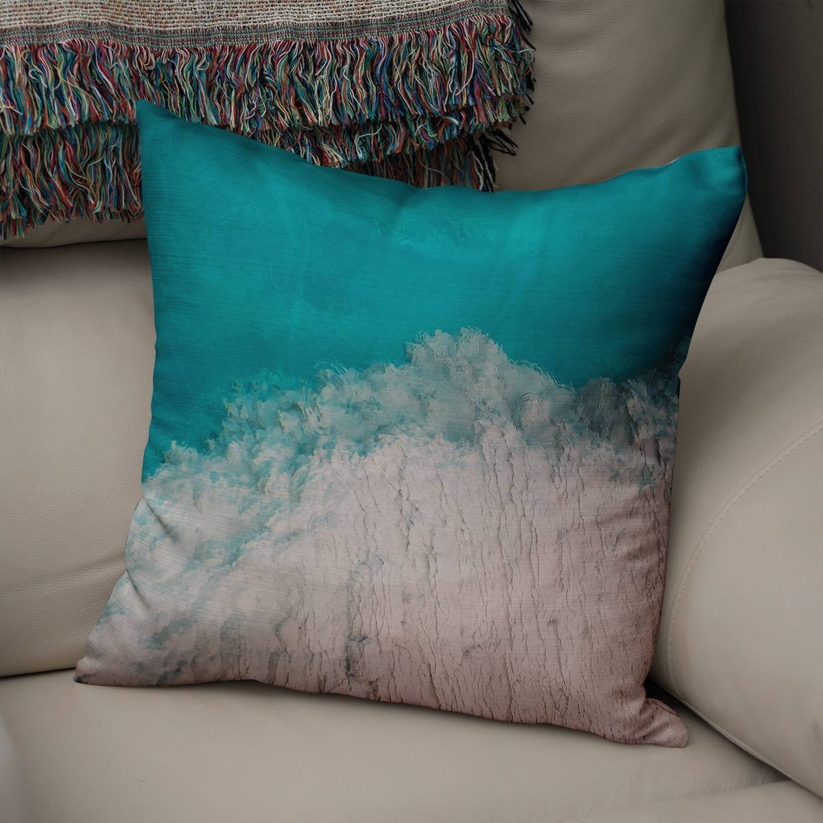 Abstract Mineral Texture II Throw Pillow Cover Lost in Nature