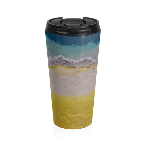 Abstract Mineral Texture Travel Mug - Stainless Steel Lost in Nature
