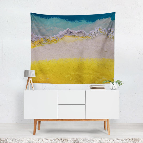Abstract Texture Ocean Wall Tapestry Lost in Nature