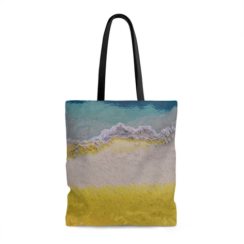 Abstract Texture Shopping Tote with Liner Lost in Nature
