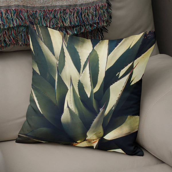 Agave Plant Green Throw Pillow Gover Lost in Nature