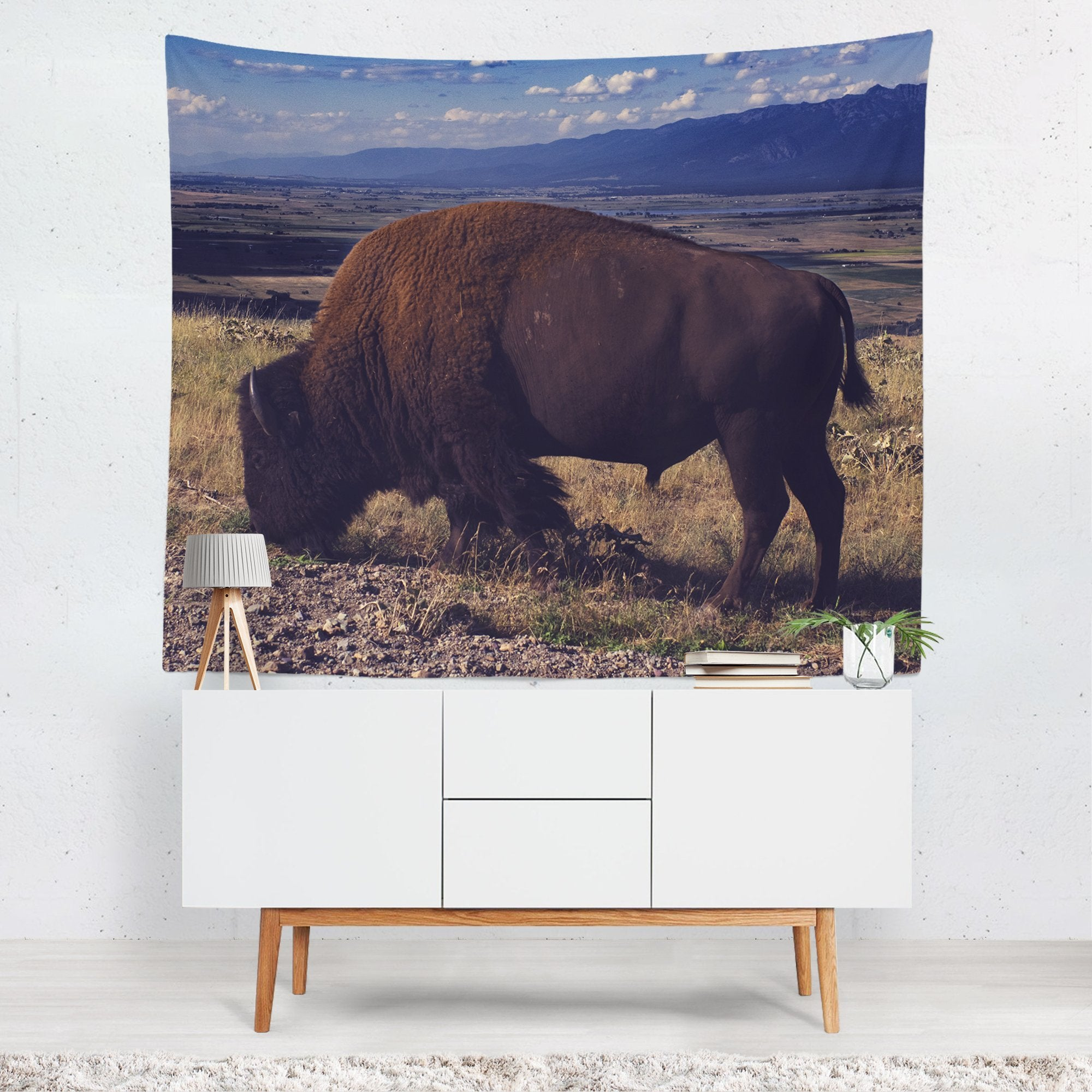 American Bison Nature Wall Tapestry Lost In Nature