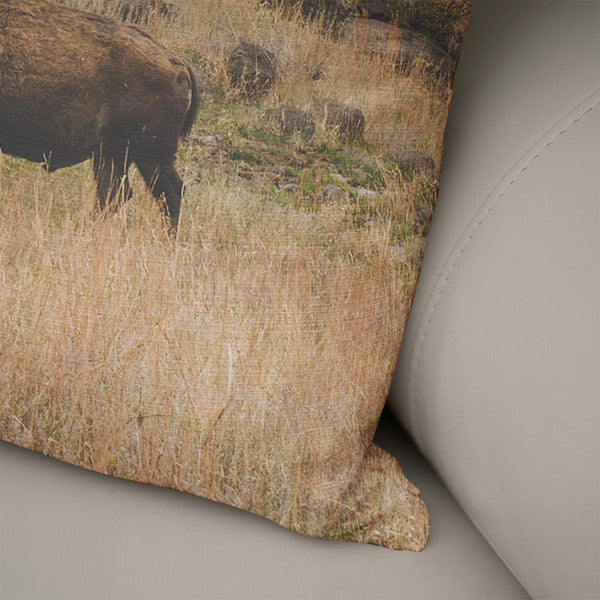American Bison Throw Pillow Cover- 5 Sizes Lost In Nature