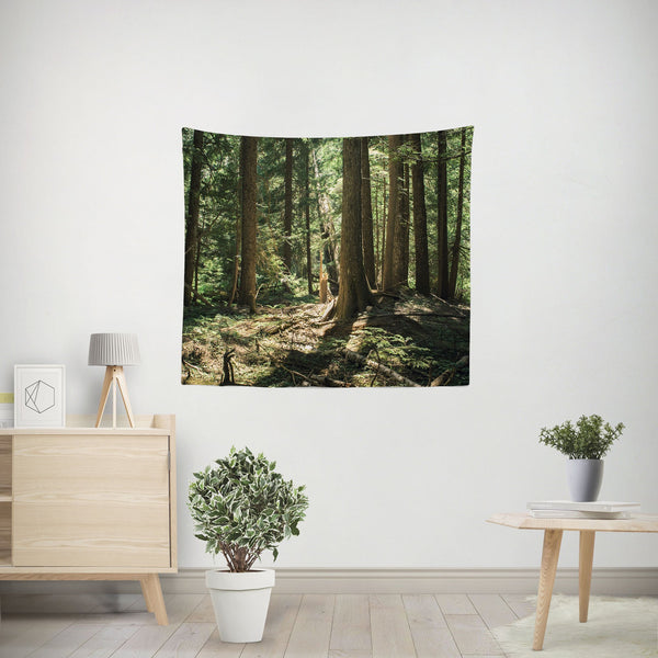Ancient Cedar Forest Wall Tapestry - 4 Sizes Lost In Nature