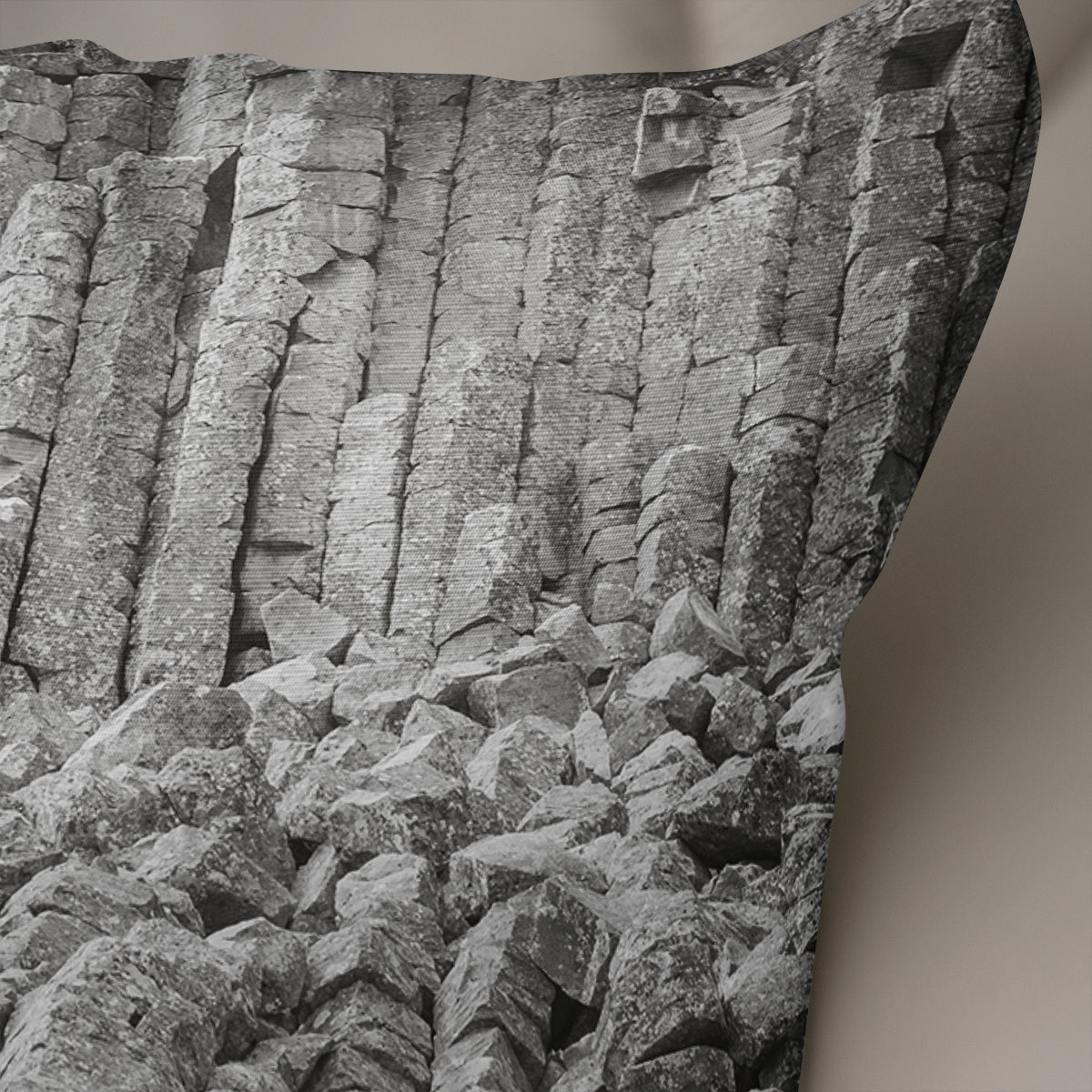Basalt Columns Black and White Throw Pillow Cover- 5 Sizes