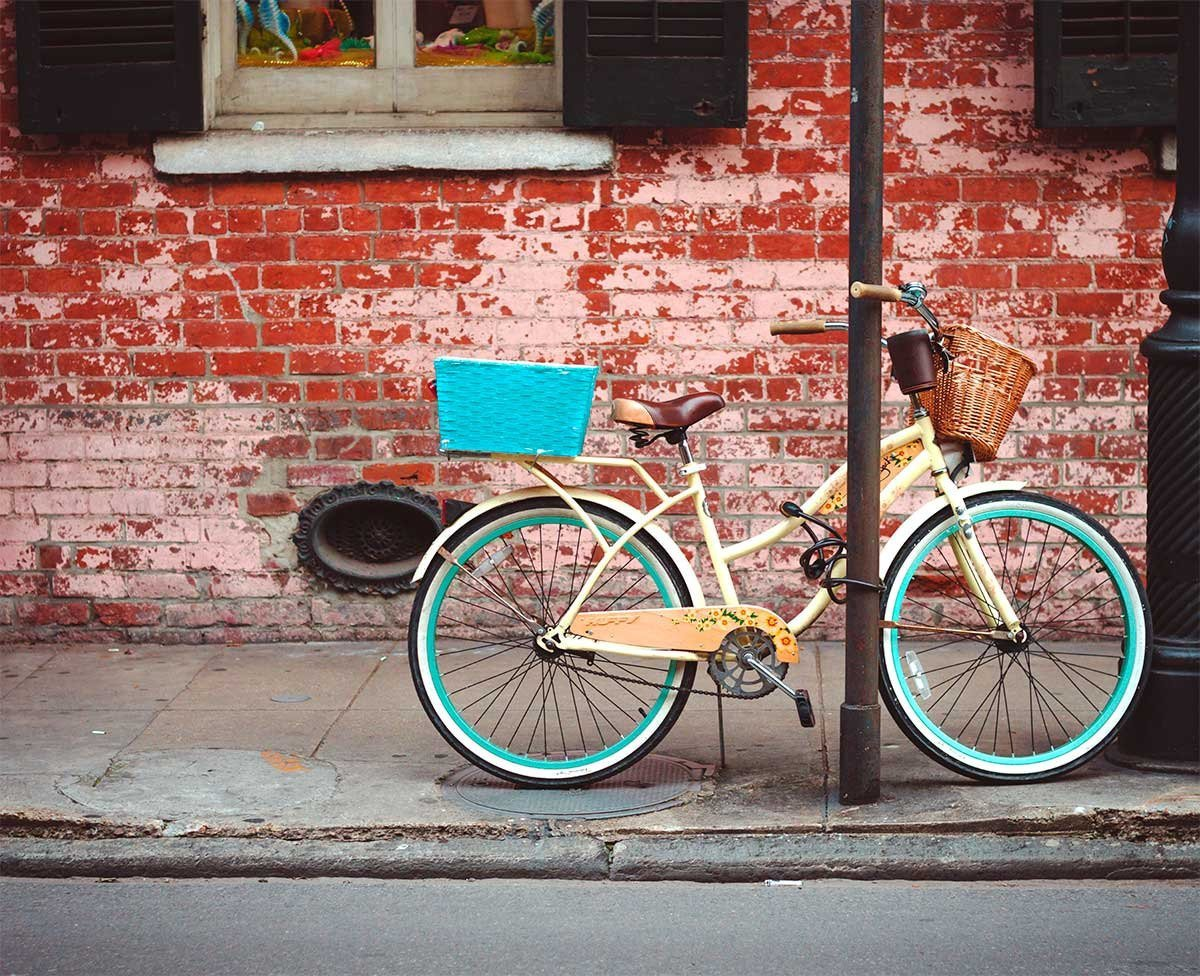Bicycle in the French Quarter, New Orleans Photography Lost Kat Photography