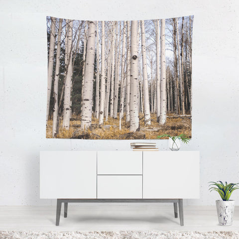 Birch Forest Wall Tapestry Lost in Nature