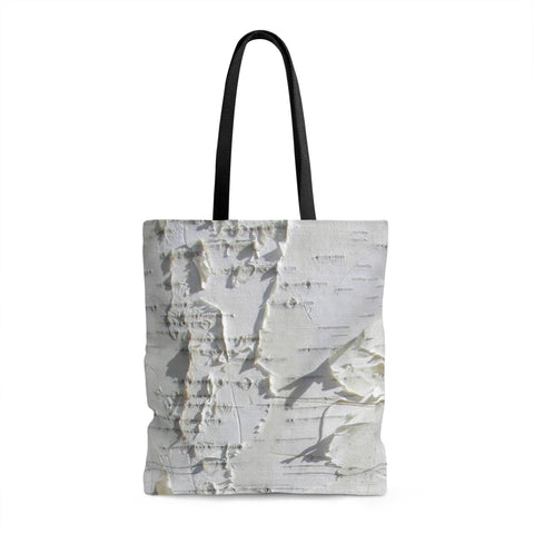 Birch Tree Forest Shopping Tote with Liner Lost in Nature