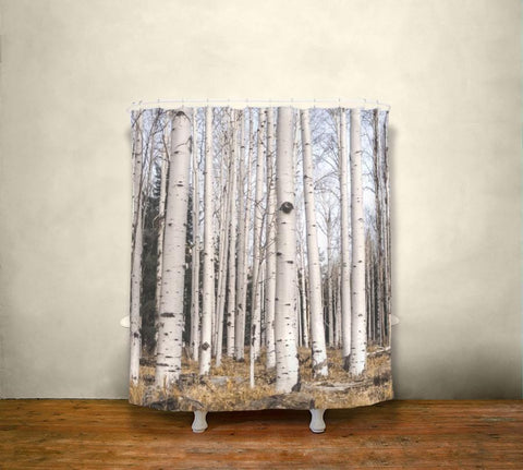 Birch Trees Shower Curtain Lost In Nature