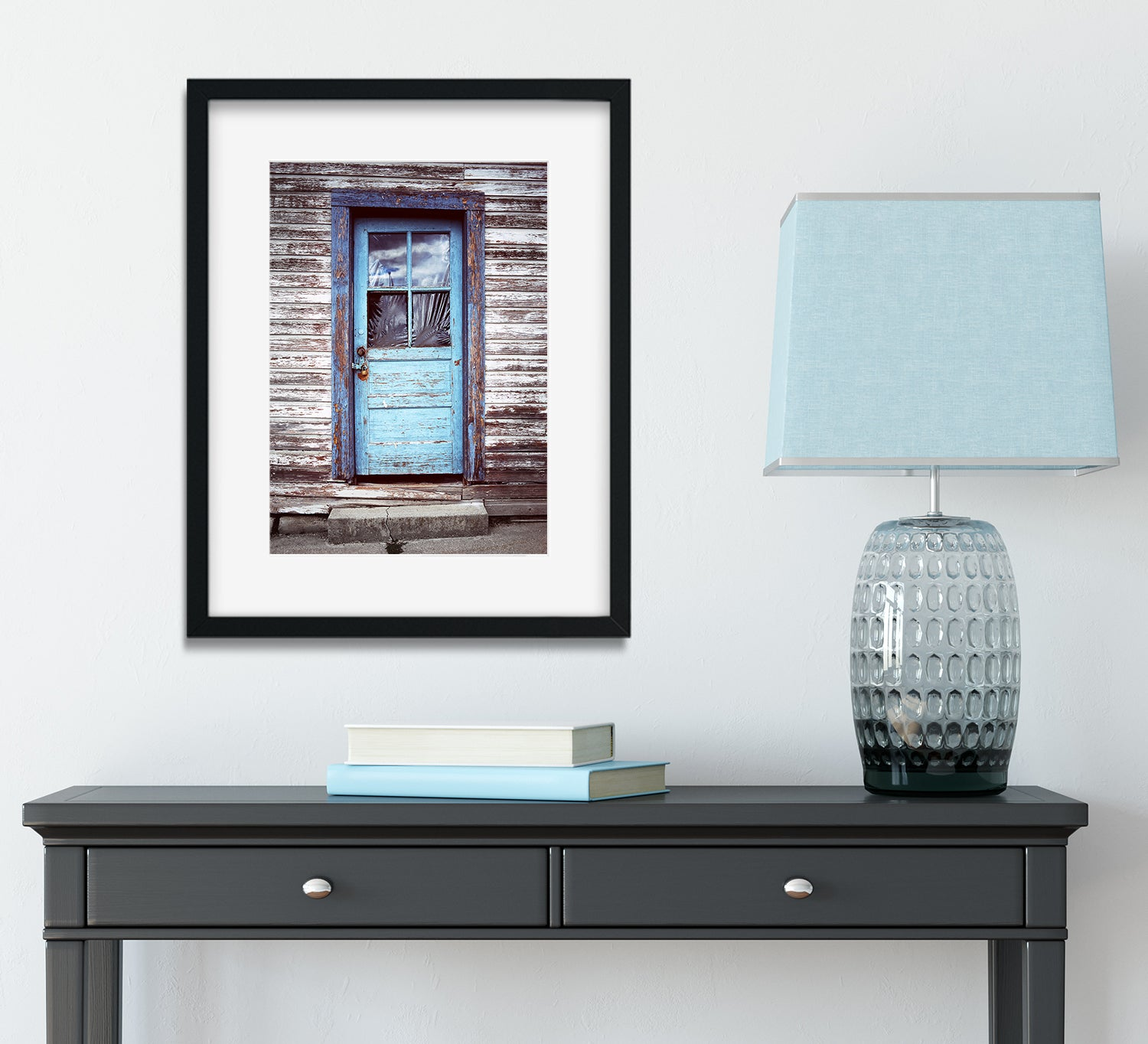 Rustic Blue Door Wall Art Print, New Denver British Columbia