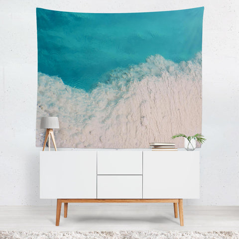 Blue Ocean Abstract Texture Wall Tapestry Lost in Nature