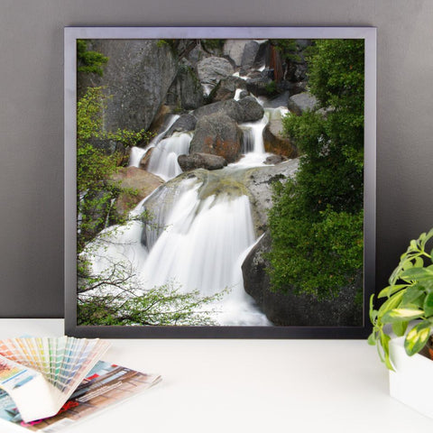 Bridal Veil Waterfall, California - Framed Photo Print 10×10 Lost Kat Photography