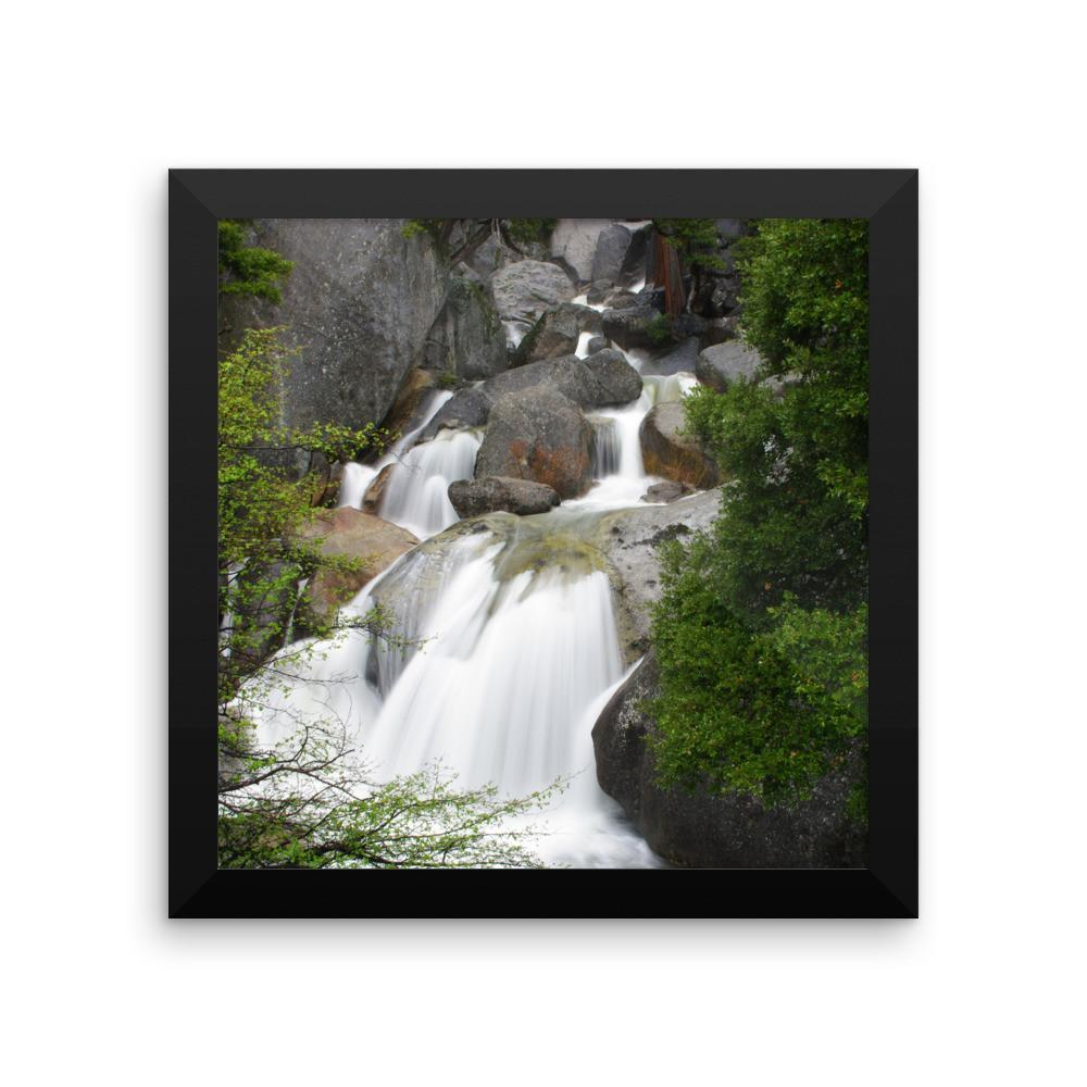 Bridal Veil Waterfall, California - Framed Photo Print 12×12 Lost Kat Photography
