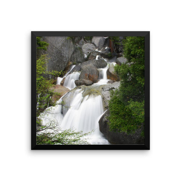 Bridal Veil Waterfall, California - Framed Photo Print 16×16 Lost Kat Photography