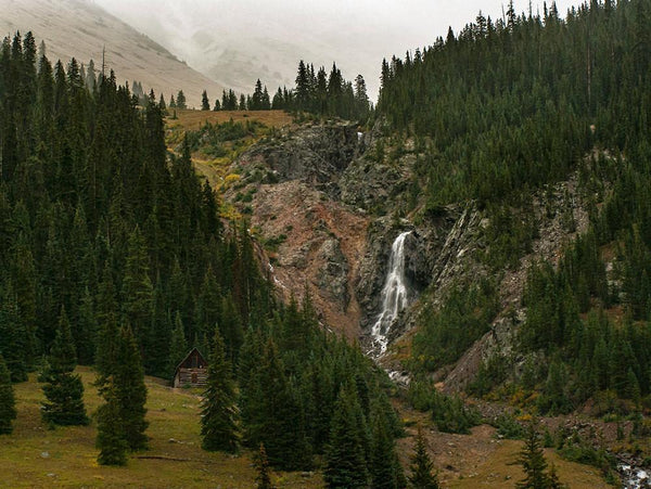 Cabin and Waterfall, Silverton Colorado Photography Lost Kat Photography