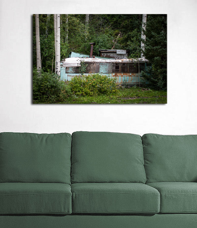 Homemade Cabin in the Woods, Colorado Wall Art Print