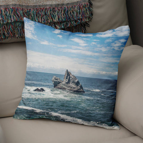 California Coast Throw Pillow Cover Lost in Nature