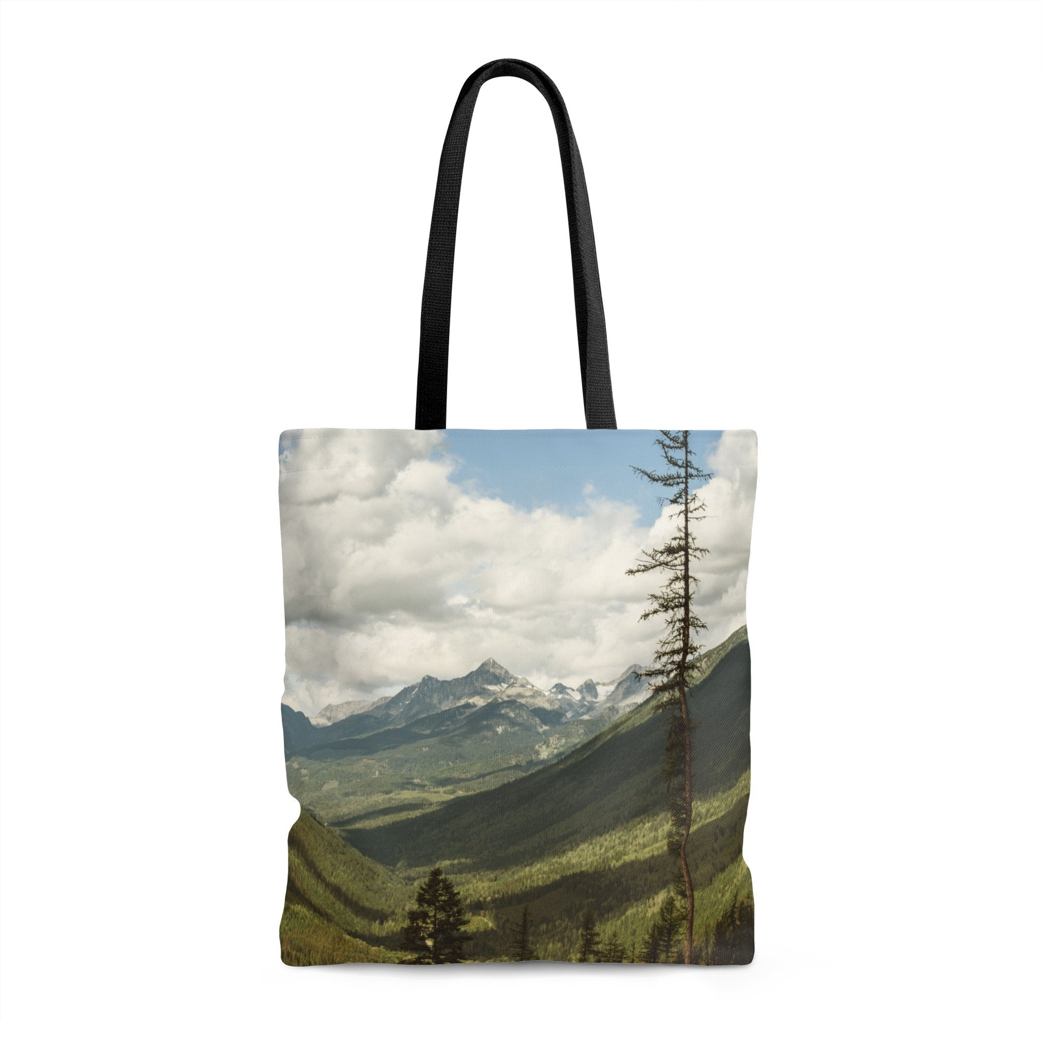 Canada Mountain Premium Tote Bag 18x18 in Printify