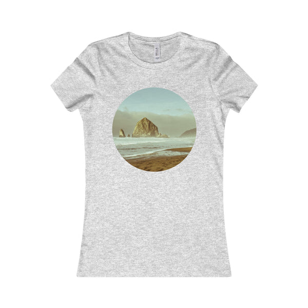 Cannon Beach Haystack Rock Women's Tee Athletic Heather / S Printify
