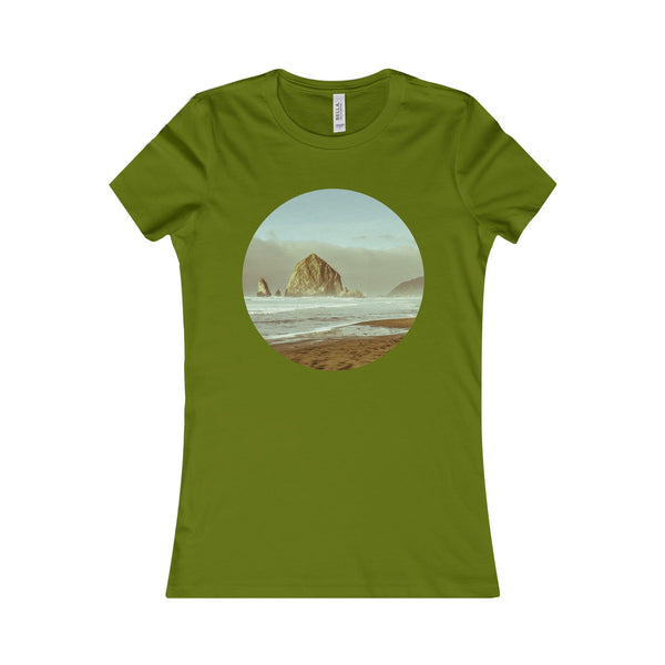 Cannon Beach Haystack Rock Women's Tee Leaf / S Printify