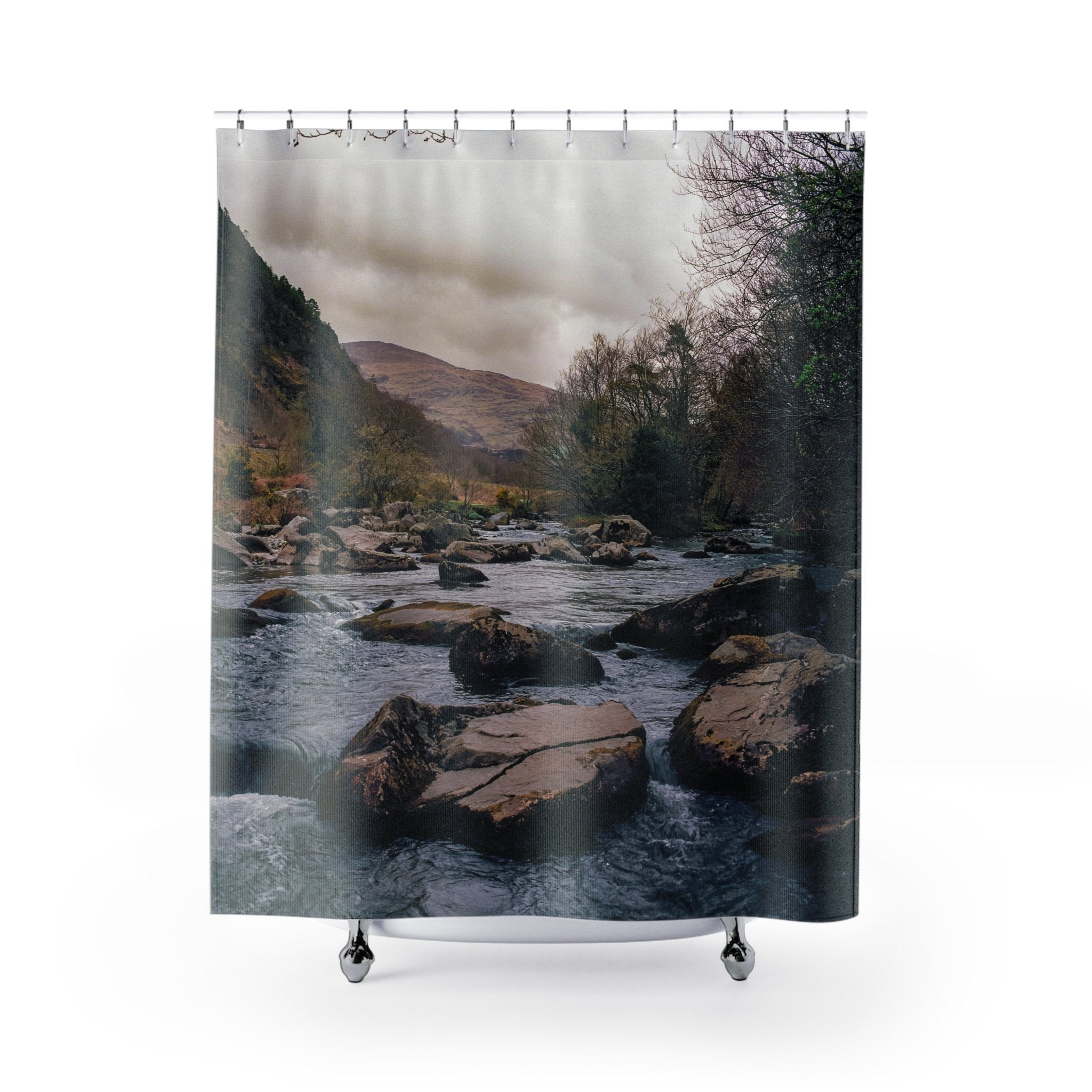 Carry Me Away - Welsh River Shower Curtains 71x74 Printify