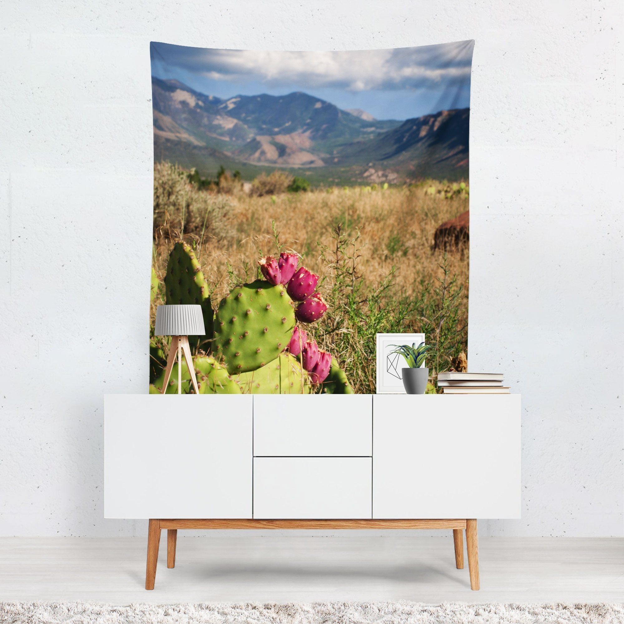 Desert Meets Mountains - Utah Nature Wall Tapestry - Large