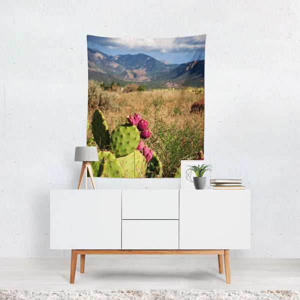 Desert Meets Mountains - Utah Nature Wall Tapestry - Medium