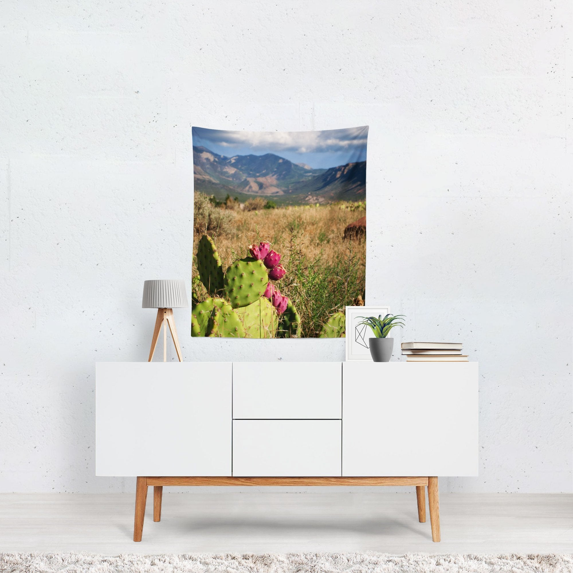 Desert Meets Mountains - Utah Nature Wall Tapestry - Small