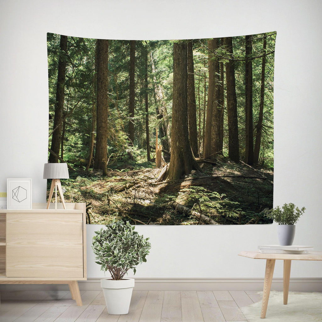 Cedar Forest Wall Tapestry Lost in Nature