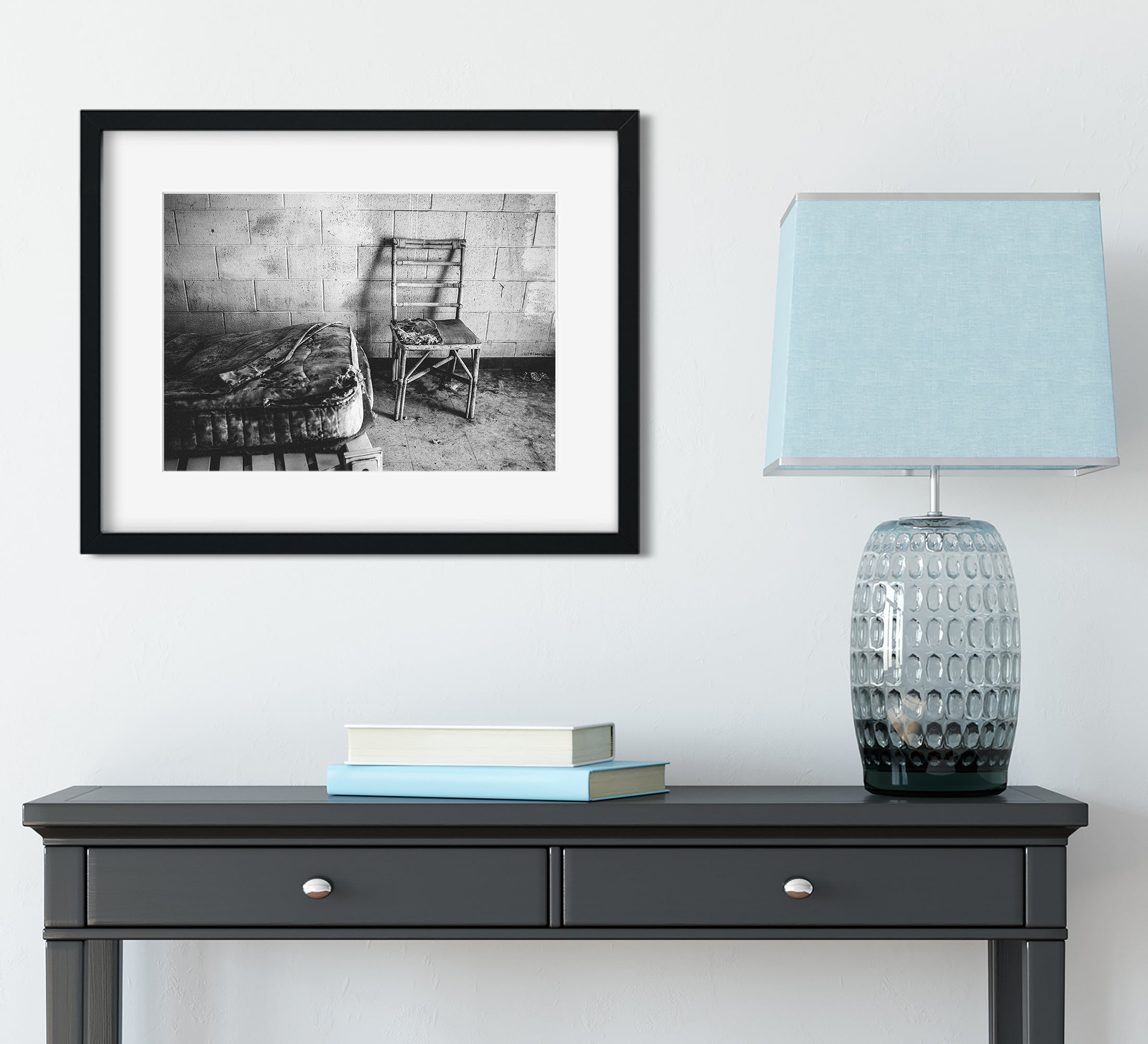 Makeshift Home, Salton City, California Wall Art Print