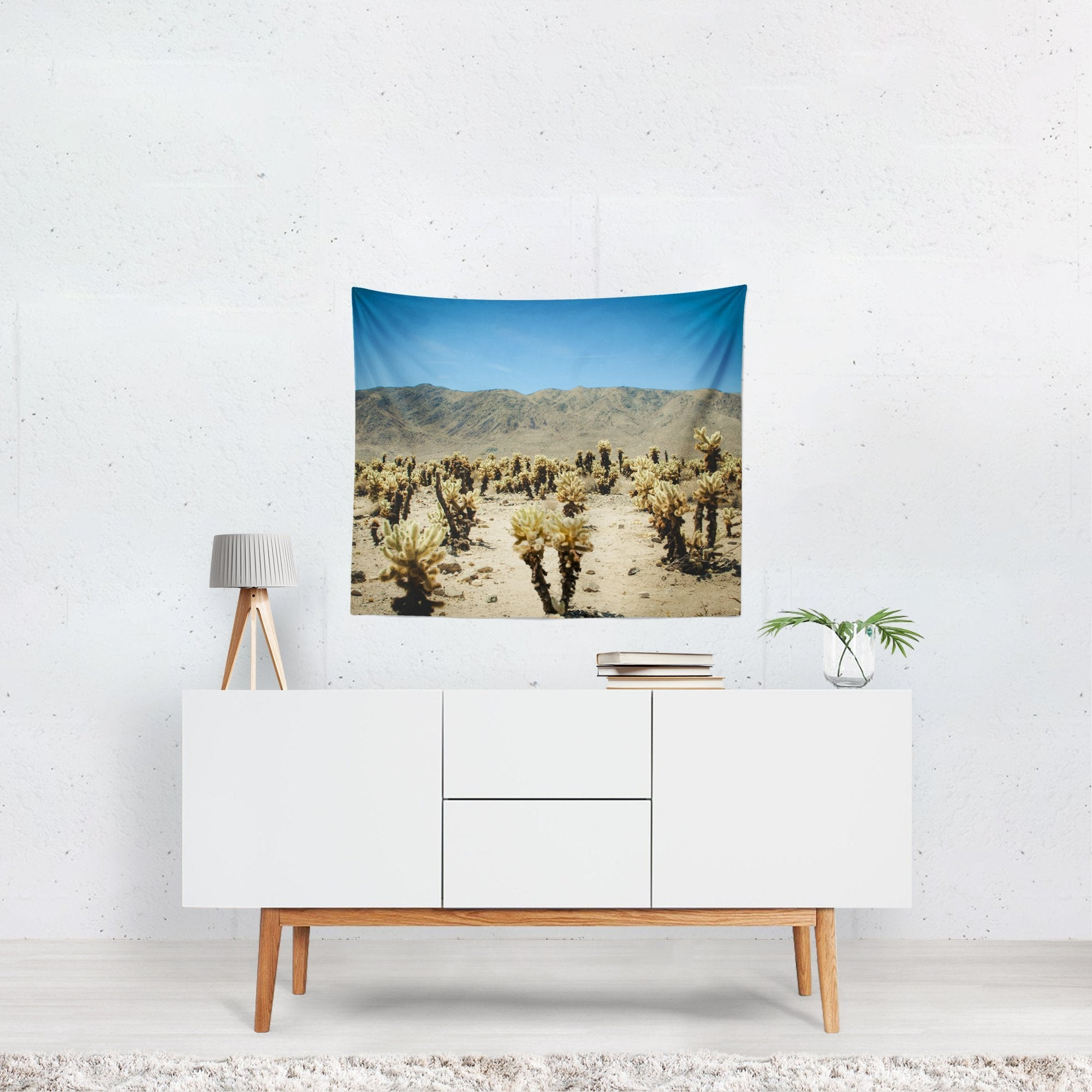 Cholla Cactus,, Joshua Tree Desert Wall Tapestry Lost In Nature