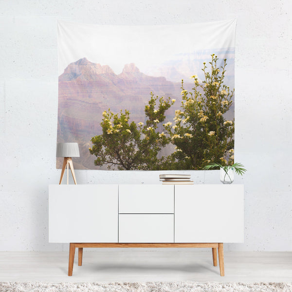 Cliff Rose Flowers, Nature Wall Tapestry - Grand Canyon, Arizona Lost In Nature