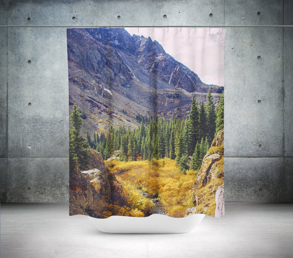 Colorado Autumn Nature Shower Curtain Lost In Nature