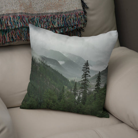 Colorado Mountain Valley Throw Pillow Lost In Nature