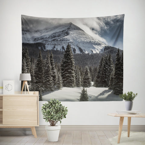 Colorado Summit at Christmas Wall Tapestry
