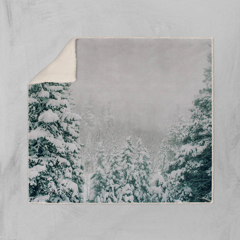 Colorado Winter Scene Sherpa Blanket Lost in Nature
