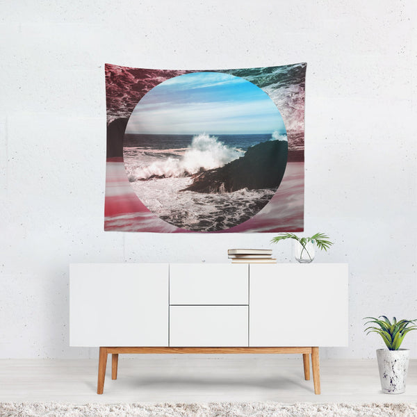 Crashing Waves in Oregon, Boho Wall Tapestry