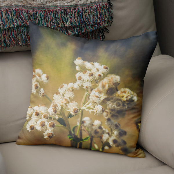 Dreamy Alpine Flowers Throw Pillow Cover- 5 Sizes