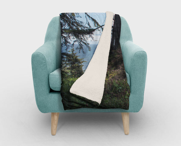 Redwood Forest Sherpa Fleece Blanket - 2 Sizes