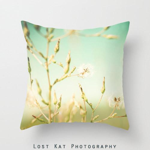 Dreamy Milkweed Throw Pillow Lost In Nature