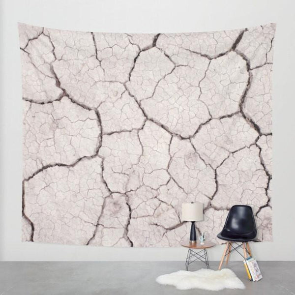 Dry Earth Texture, Wasteland Wall Tapestry Lost In Nature