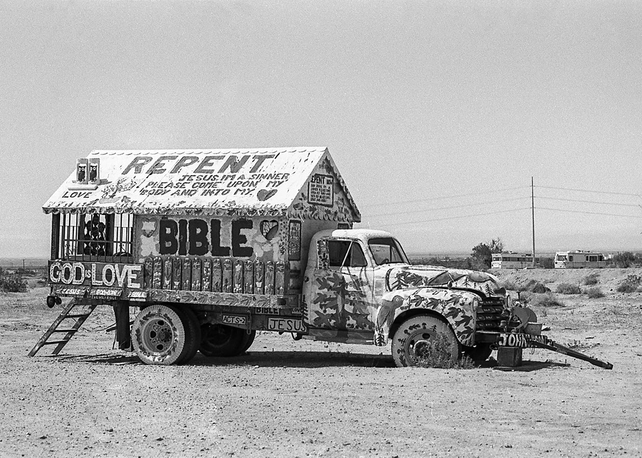 Jesus Truck Salvation Mountain California