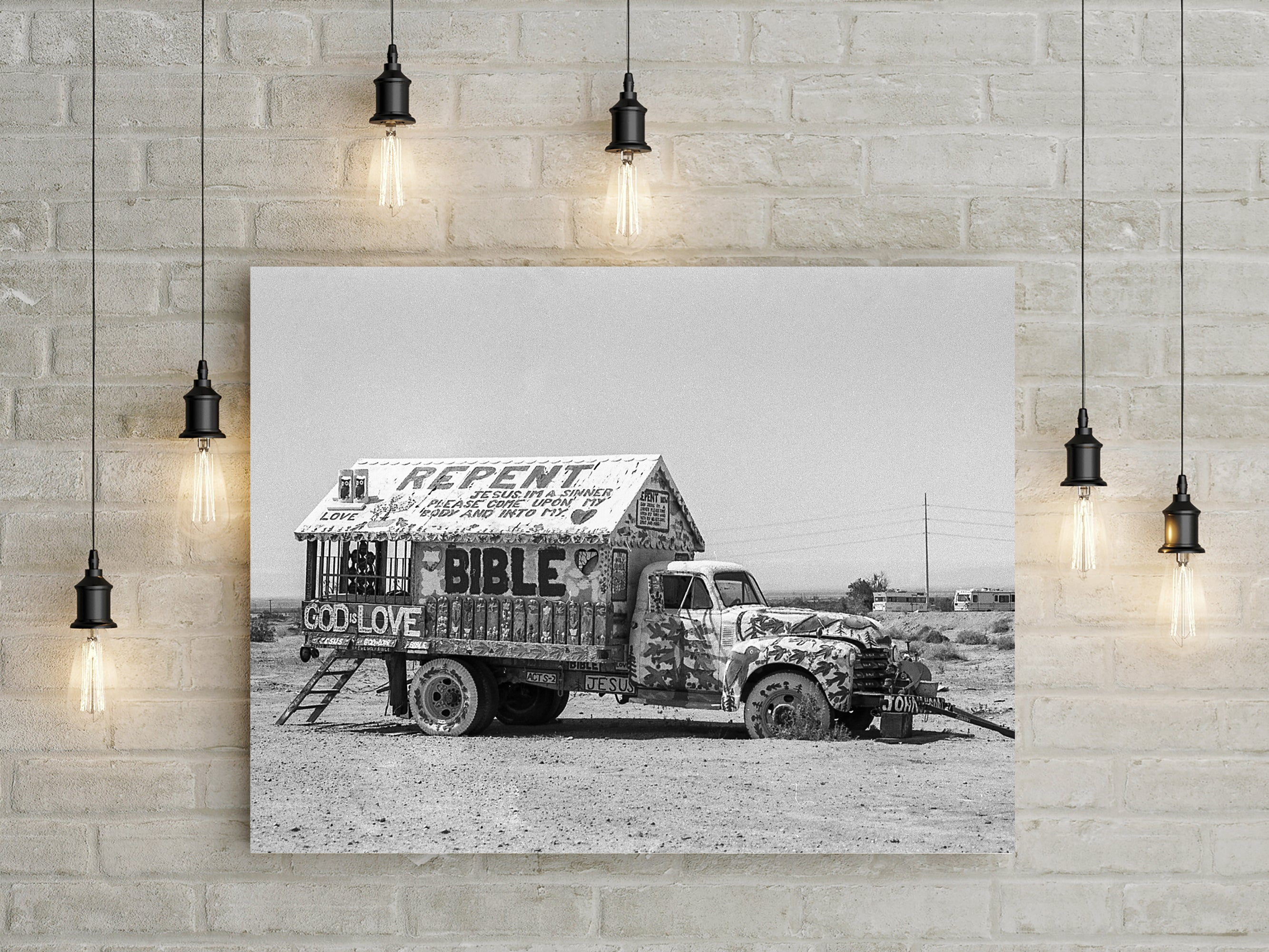 Jesus Truck Salvation Mountain California Art Print